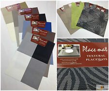 Set of 6 Placemats Kitchen Table Place Mats Dinner Party Decor Square Modern New