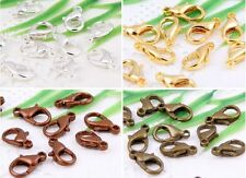 Silver /Gold/Bronze/Copper Plated Lobster Claw Clasps 10、12、14. 16、18、21mm