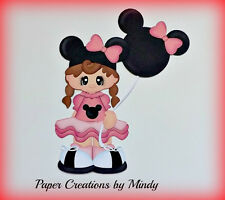 Craftecafe Mindy Vacation girl Disney premade paper piecing for scrapbook page