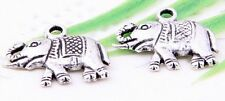Wholesale 28/62Pcs Tibetan Silver(Lead-Free)Elephant Charms Pendants 18x15mm