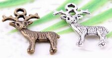 Wholesale 20/44Pcs Bronze/Silver Plated(Lead-Free)Deer Charms Pendant 23x19mm