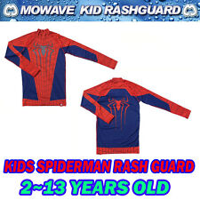 Mowave kids amazing spiderman rashguard swimming swimwear 2~13years old costume
