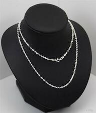 New Sterling Silver Chain 18inch long 2mm wideTrace Chain