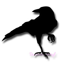 1 x Crow Raven Blackbird Bird Vinyl Sticker Decal - Car Laptop Wall Window