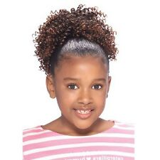 Model Model Glance Kids Draw String Ponytail Curly Weave Extension CORK SCREW