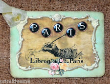 Hang Tags  FRENCH PARIS WRITING TAGS or MAGNET #93  Gift Tags