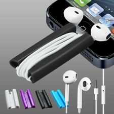 2in1 EarBud Earphone + Clip Cord Winder iPhone iPod Touch Nano Classic Shuffle