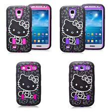New Cute Hello Kitty Shockproof Hybrid Case Cover For Samsung Galaxy S3 & S4