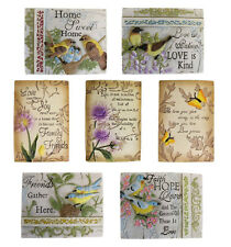BN - Wise Words Plaques Beautiful Plagues with Birds, Butterflies & Flowers