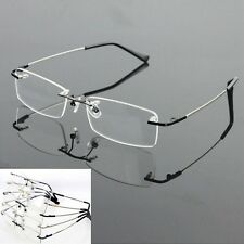 Men Memory Titanium Alloy Rimless Flexible Eyeglass Frame Optical Hinged Rx 8125