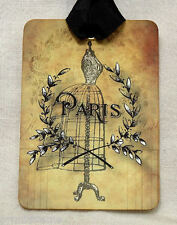 Hang Tags  FRENCH PARIS AGED SEWING DRESS FORM TAGS or MAGNET #74  Gift Tags