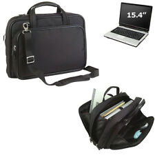 New Premier Compu Briefcase Computer Bag Case with Zippered Pockets Black