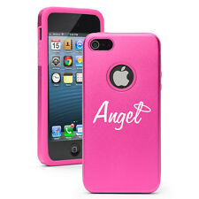 For iPhone 4 4S 5 5S 5c Hot Pink Aluminum Silicone Hard Case Cover Angel w/ Halo