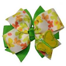 Social Butterfly Boutique Hair Bow with 3D Butterfly