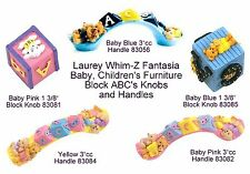 Baby ABC Blocks Cabinet Knob Pulls and Handle Pulls in Full Color from Laurey