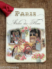 Hang Tags FRENCH PARIS FLOWER SHOP BICYCLE TAGS or MAGNET #41  Gift Tags