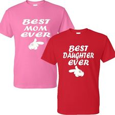 NEW BEST MOM EVER &BEST DAUGHTER EVER t-shirts HAPPY MOTHER'S DAY GIFT  T-Shirt