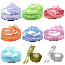 "New 25 Yards 3/8 ""(10mm)Beautiful Glitter Ribbons Bling for Bows and decorated"