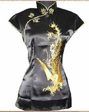 Top chinese silk/satin women jacket/T-shirts SZ6 8 10 12 14 16