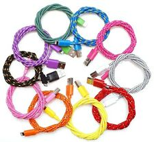 3ft (1m) Braided 8pin USB Data Sync Charging Cable for iPhone 5 5S 5C iPod Touch