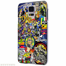 VR46 Valentino Rossi StickerBomb Case for Samsung Galaxy S2 / S3 / S4 / S5
