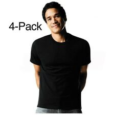 New Hanes Mens Comfortsoft Cotton Dyed Crew Tagless t-shirts 4 PACK - Black