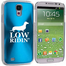 For Samsung Galaxy S3 S4 S5 Light Blue Hard Case Cover Low Ridin' Dachshund