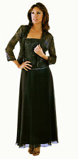 Ignite 2368 Black  Mother of Bride Formal Evening Jacket Dress Ball Gown  10 IS