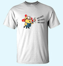Bee Do Fireman Minion Despicable Me Mens Funny T-Shirts 14 Colors Small/XX-Lrg.