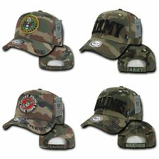 1 Dozen Army Marines Woodland Camouflage Military Baseball Caps Hats Wholesale