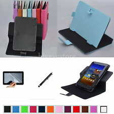 "Colorful Rotary Magic Case+Film+Stylus For 7"" Hipstreet Aurora 2/NOVA 4 Tablet"
