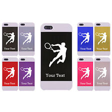 Personalized Engraved Tenis Player for Aluminum White Case for iPhone 5/5s