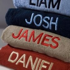 NEW Personalised SWIMMING LESSON TOWELS - Embroidered with ANY NAME - 16 Colours