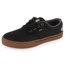 Etnies Jameson 2 Eco Mens Canvas Trainers Black Grey New Shoes All Sizes