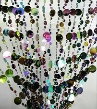 Crystal Bubble Beads Wedding Garland Porch Curtain Chains Decoration