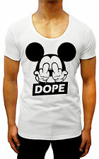 DOPE MICKEY MOUSE SCOOP NECK T-SHIRT  S - XXL SWAG hipster GYM DIS OBEY FRESH