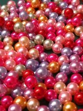 Loose Pearl Beads Mix Colors 2mm-8mm NO HOLES For Projects/Wedding/Jewelry