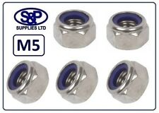 M5 - 5MM METRIC A2 STAINLESS STEEL HEXAGON NYLOC NUT FASTENER
