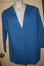 Women's Plus Sweatshirt Button Down Jacket in Medium Bright Blue