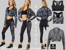 ZUMBA  FITNESS ~3 PIECE SET!! ~ CAPRI Leggings Pants ~Reversible BRA and ~JACKET