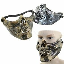 Creative Human Skull Skeleton Jaw Half Face Mask Halloween Party Plastic