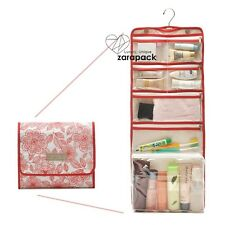 Large Functional Hanging Rolling Toiletry Bag Women Cosmetic Bag Traveling Case