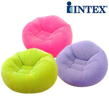 Intex Bean Less Bag Inflatable Flocked Air Sofa Lounge Chair Couch Outdoor 68569