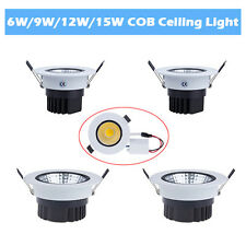 6W 9W 12W 15W Dimmable LED COB Ceiling Recessed Down Light Cabinet Lamp & Driver