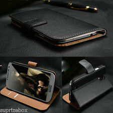 Genuine 100% Real Leather Wallet stand case cover for SONY XPERIA L S36H