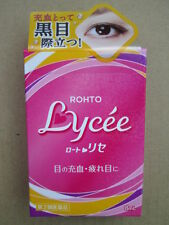 EYE DROPS ROHTO LYCEE 8ml VISION CARE UV CARE VITAMIN B12  MADE IN JAPAN
