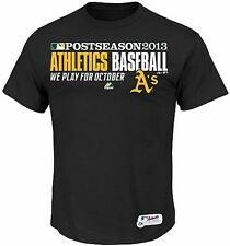Oakland A'S Athletics 2013 MLB Playoffs Authentic Playoff T Shirt Size 6X