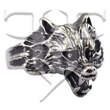 Stainless Steel Wolf Ring Size 8, 9, 10, 11, 12, 13, 14, 15 Wolves, Wolfs Band