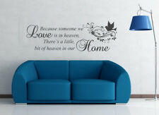 BECAUSE SOMEOONE WE LOVE IS IN HEAVEN wall sticker quote art decor