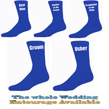 Blue Mens Wedding Socks, Groom, Best Man, Usher